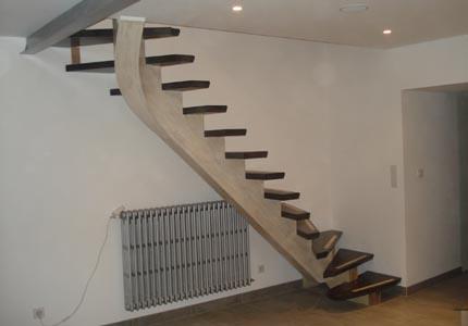 Escaliers Contemporains En Bois - Menuiserie Yann Gontier, Manche